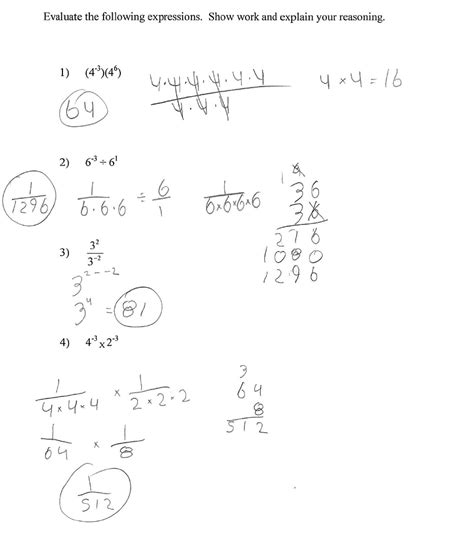 multiplying and dividing integer exponents