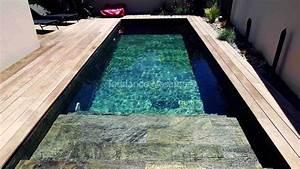 piscine en pierre naturelle quartzite reference silver With revetement piscine pierre naturelle