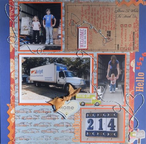 New Home Layouts by Bright Moving Day Scrapbook Layout Scrappin