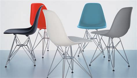 chaises eames vitra eames dsr plastic chair chairs dining room furniture