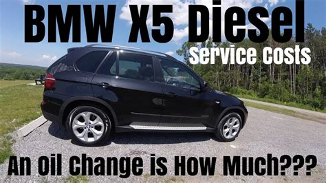 bmw  diesel  oil change costs   youtube