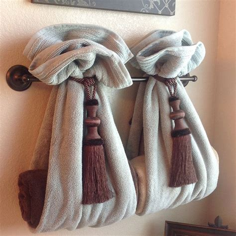 towel folding ideas for bathrooms diy decorative bath towel storage inspiration two