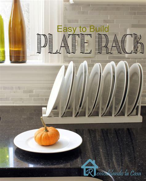 easy  build plate rack remodelando la casa