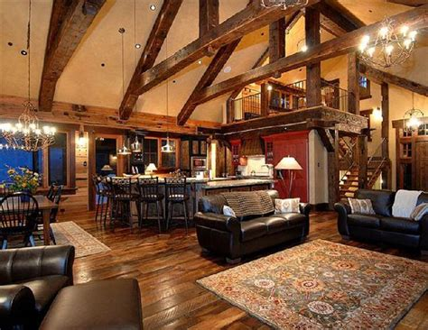 enter  cabin   large open floor plan featuring cathedral ceilings  floor  ceil
