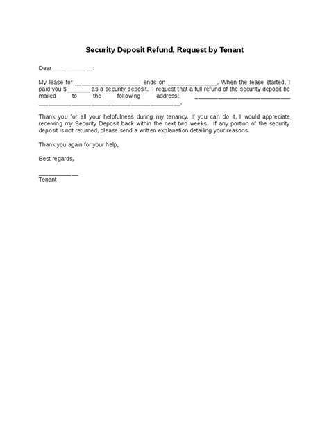 tenant security deposit refund form best photos of landlord security deposit refund form