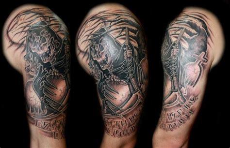 schulter fantasie tod tattoo von fatink tattoo