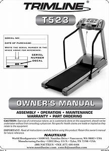 Trimline T523 Users Manual