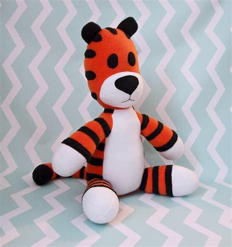 hobbes plush  tiger plushie needlework  cut