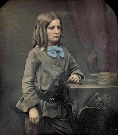 Daguerreotype Colored Animated Boy Stereoscopic Portrait Claudet