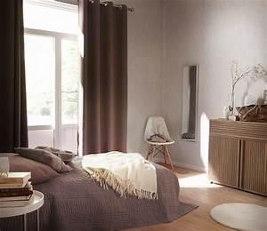 Rideau Pour Chambre : un rideau en lin de couleur perle leroy merlin ~ Melissatoandfro.com Idées de Décoration