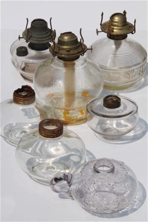 Antique Kerosene Lanterns Value by Antique Ls Lot Collection Of Glass L Bases
