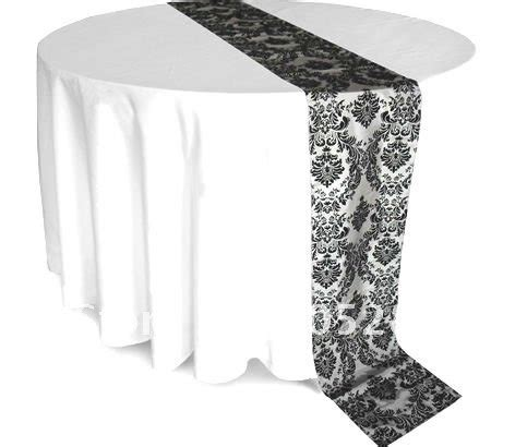black and white table runners damask flock table runner black and white table runner