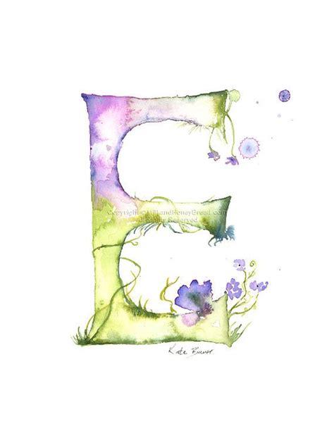letter  watercolor monogram flower lettering watercolor letter print watercolor initial