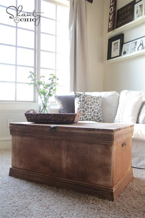 pottery barn inspired chest coffee table shanty  chic