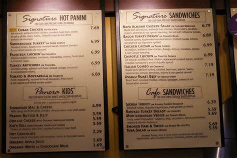 panera bread menu prices  today save