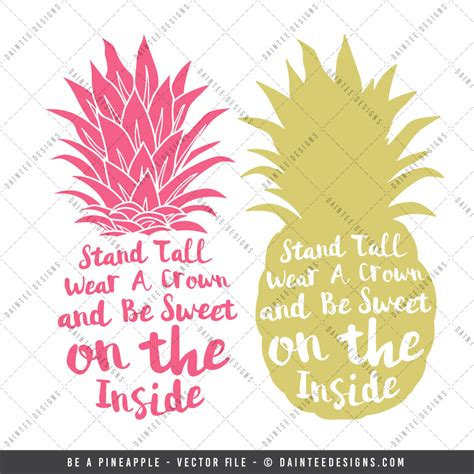 be a be a pineapple svg dxf eps digital cutting file