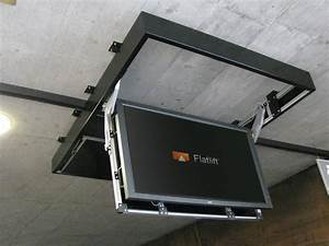 Ceiling Fold Down Tv Mount  Motorized Silent Ceiling Flip