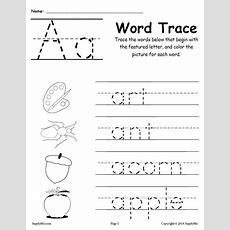 26 Alphabet Word Tracing Worksheets! Supplyme