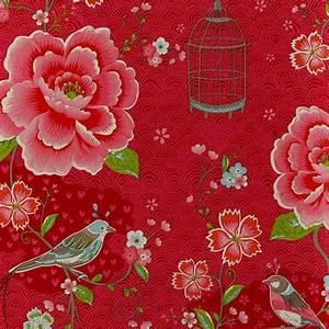 Tapete Blumen Modern : birds in paradise blumentapete von pip studio stilrichtungen blumen tapetenmarkt ~ Eleganceandgraceweddings.com Haus und Dekorationen