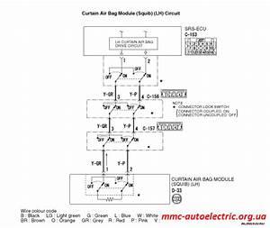 Code No B1451  Curtain Air Bag Module  Lh   Squib  System  Open