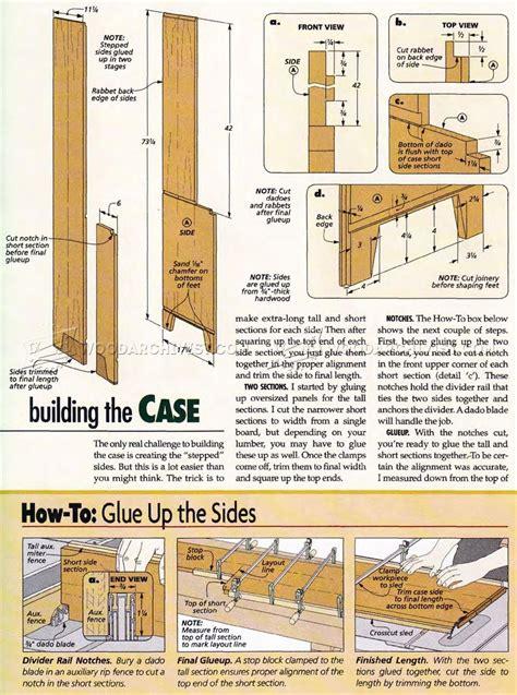 stepback cupboard plans woodarchivist