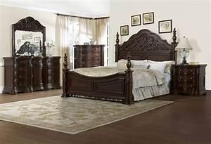 The Via Massara Elegant Master Bedroom Set Dark Finish ...