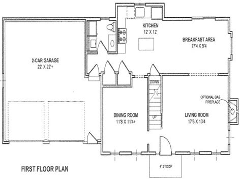 detached garage floor plans house with attached garage plans house with detached
