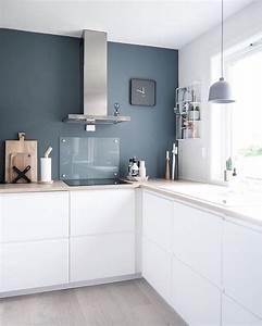 les 25 meilleures idees de la categorie peinture bleu gris With cuisine gris et bleu