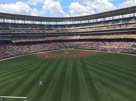 Target Field Home Run Porch by Target Field Section 235 Row 6 Seat 13 Minnesota