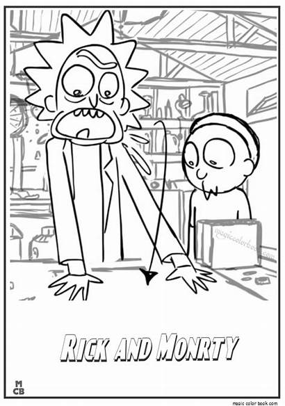 Morty Rick Coloring Pages Drawing Printable Adult