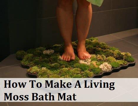moss bath mat how to make a living moss bath mat
