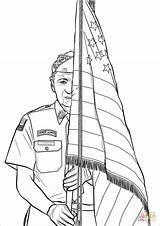 Coloring Guard Pages Honor Drawing Printable sketch template