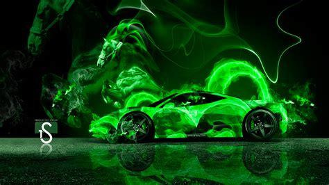 Green Flame Wallpaper