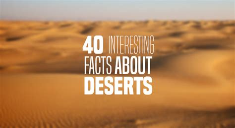 40 Interesting Facts About the Desert | The 7 Continents ...