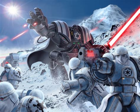 Star Wars Episode 4 Wallpaper Wallpaper Stormtroopers Darth Vader Warhammer 40k Star Wars 4k Games 5916