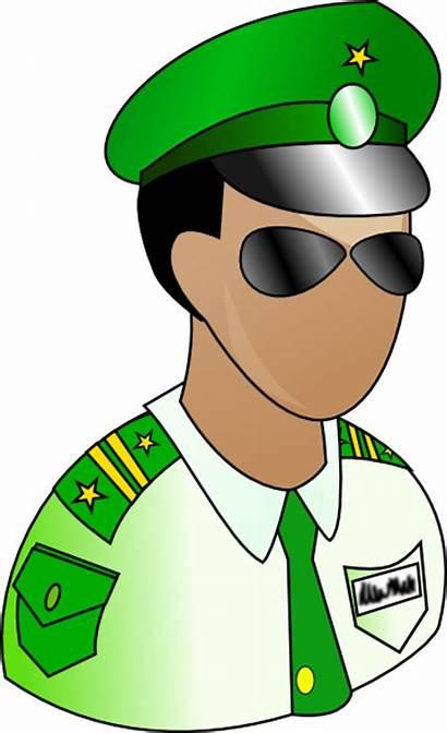 Security Clip Clipart Soldier Guard Cliparts Satpam