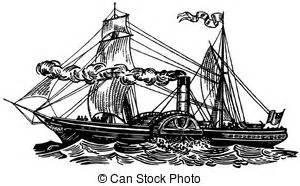Barco De Vapor Sirius by Buque Vapor Ilustraciones Y Clipart 850 Buque Vapor