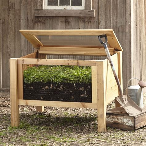 wooden compost bin 10 easy pieces wood compost bins gardenista 1157