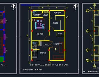 house space planning  floor layout plan autocad