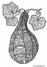 Coloring Gourd Colouring Adult Pages Deviantart Welshpixie Mandala Printable Sheets Northern Zentangle Books Season Gourds Adults Link Colour Related Happy sketch template