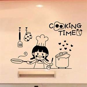 happy cooking time vinyl wall stickers for kitchen art With best brand of paint for kitchen cabinets with coffee wall art stickers