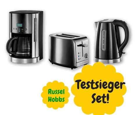 kaffeemaschine toaster wasserkocher set 3 in 1 fr 252 hst 252 cks set im klassischen schwarzen design