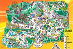 Six Flags America Park Map | six flags great america ...