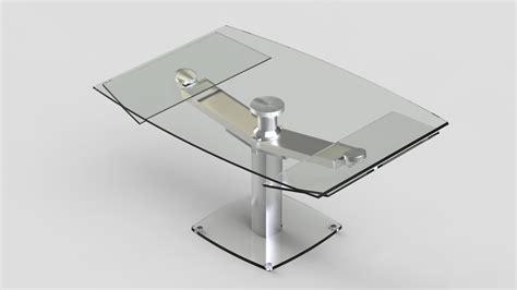 canapé buffle table repas design en verre trempé avec rallonges eda