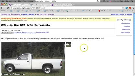 Craigslist St Fl Cars by Craigslist Panama City Florida Used Cars And Trucks