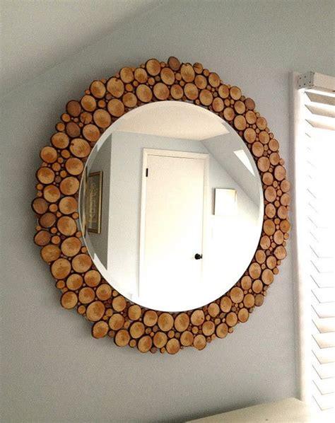 Rahmen Aus Holzscheiben Fuer Designer Spiegel by Rahmen Aus Holzscheiben F 252 R Designer Spiegel Sonstige