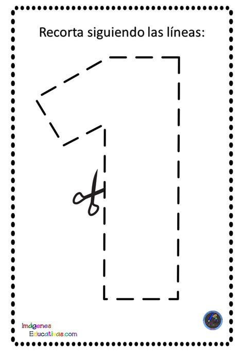 motricidad fina recortar números (2) – Imagenes Educativas