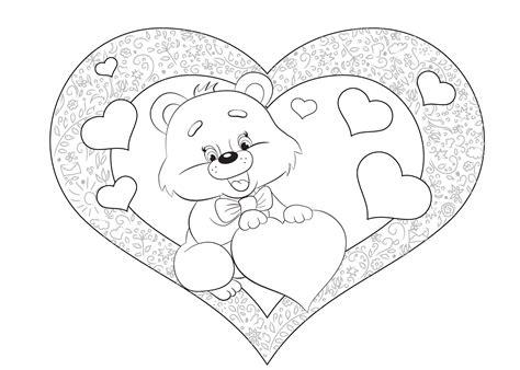 Kleurplaat Moederdag Teddybeer by Valentijn Kleurplaat 33 Allerliefste Valentijn Kleurplaten