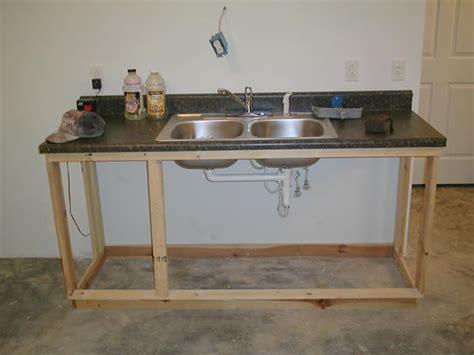 temporary kitchen sink building the garage 2691