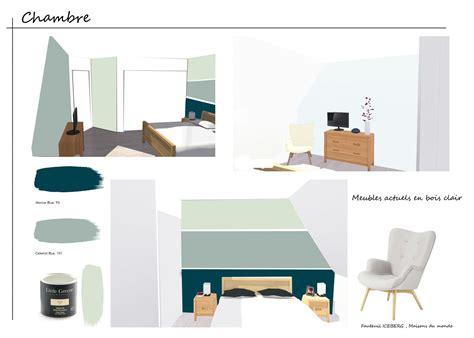 chambre peinture 2 couleurs couleur peinture greene l 39 atelier des couleurs